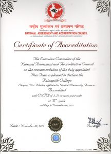 Certificate of Accreditation (NAAC)